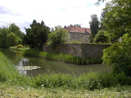 Wassergraben mit Seerosen - Schloß Hünnefeld