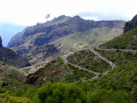 Serpentienen, auf dem Weg zu Teide - Teno Gebirge