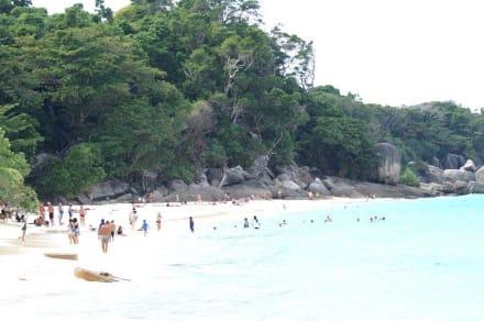Strand auf der anderern Inselseite - Similan Islands