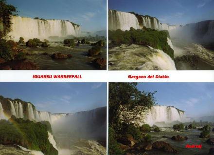 Postkarte - Iguacu Wasserfall - Iguassu / Iguazu Fälle