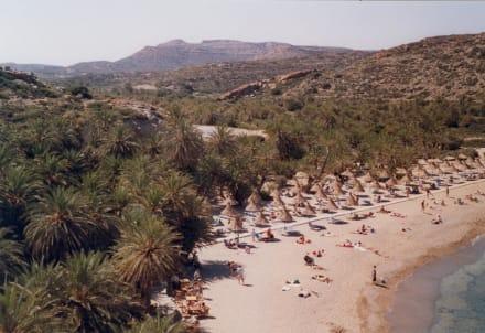 Palmenstrand von Vai - Strand Vái