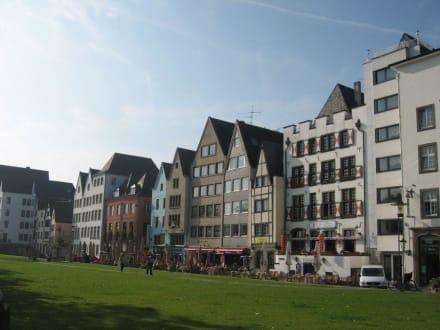 Köln, - Rheinpromenade Köln