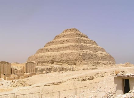 Sakkara , Stufenpyramide des Djoser - Stufenpyramide / Pyramide von Djoser