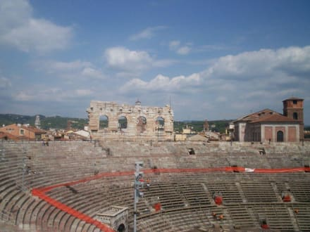 Restmauern der Antike in Verona - Amphitheater Opera di Verona