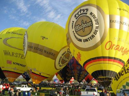 Warsteiner Ballone in Amerika - ABQ - Ballon Fiesta
