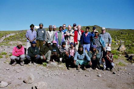 Unsere Gruppe - Kilimanjarobesteigung