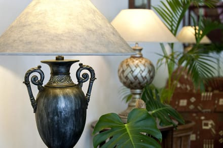 Flowers & lamp shade at the lounge -