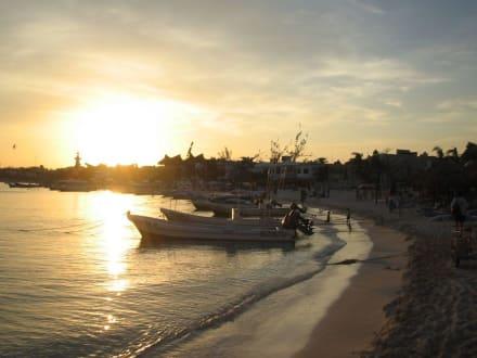 Der Strand von Playa del Carmen am Abend - Strand Playa del Carmen/Playacar