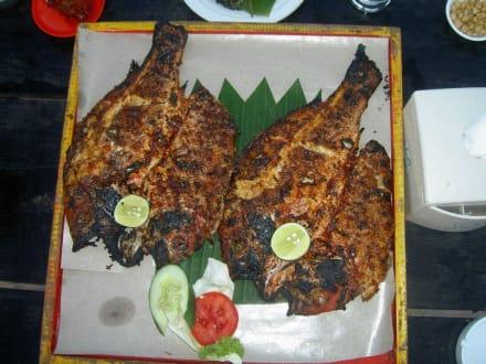Frisch zubereitetes Seafood - Jimbaran Bay Seafood (JBS)