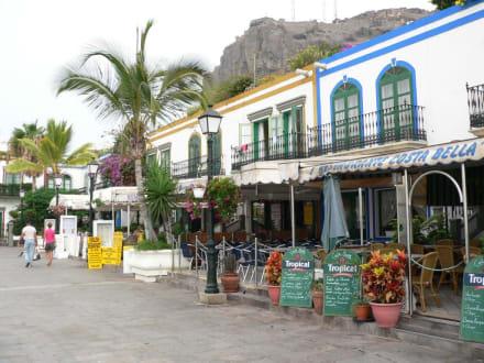 Der Hafen mit seiner zahlreichen Gaststätten - Hafen Puerto de Mogán