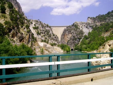 Die Staumauer - Oymapinar Baraji/ Stausee Green Lake & Green Canyon