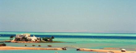 Der Blick vom Hotelzimmer auf die Lagune - Strände El Gouna