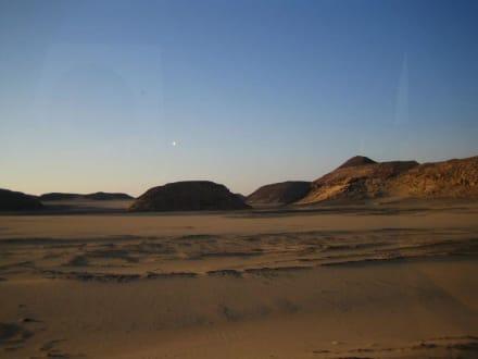 Auf der Fahrt nach Abu Simbel - Tempel von Abu Simbel