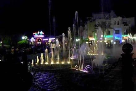 Springbrunnen beleuchtet - Brunnen