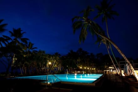 Main Pool at night -