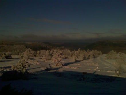 Ausblick von der Terrasse ins Tal - Siggi's Hütte