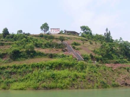 Pegelstandsanzeige - Yangtse / Jangtsekiang Fluss
