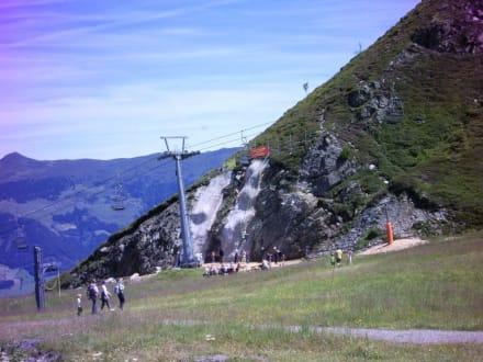 Kletterwand an der Spieljochbahn - Spieljoch Bahn