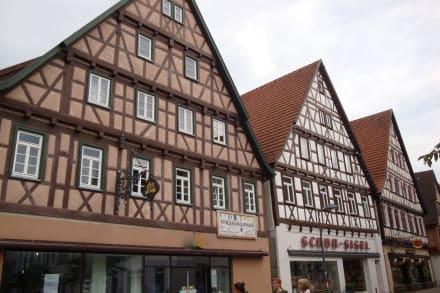 Häuser In Der Einkaufsstrasse Bild Altstadt Kirchheim Unter Teck In