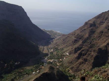 vom Berg aus gesehen - Playa de Valle Gran Rey