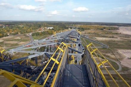 Super Ausblick von hier oben  - Besucherbergwerk F60 Lichterfeld