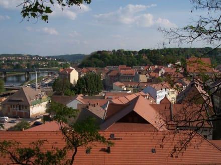 Blick von der Burg aus über die Altstadt - Altstadt Meißen