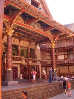 Globe bei den Proben - The Globe - Theater und Museum