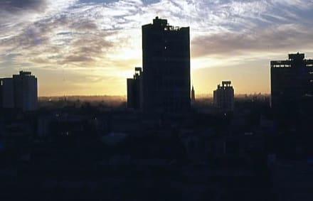 Blick am Abend aus dem Hotelfenster - La Plata