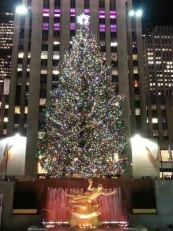 Weihnachtsbaum Rockefeller Center.Weihnachtsbaum Am Rockefeller Center In New York Manhattan