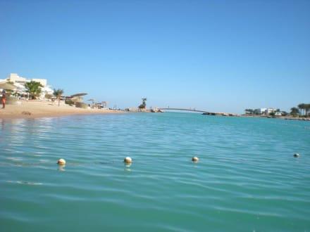 Blick zur Lagune - Ausflug nach El Gouna