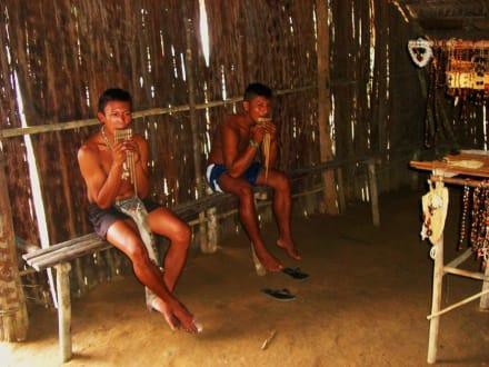 Indios vom Tribu Tucano - Praia do Tupé