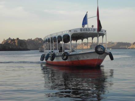 Boot mit denen man auf die Angelika-Insel fährt - Philae Tempel