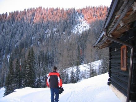 Südseite der Hütte - Skihütte Firstwand