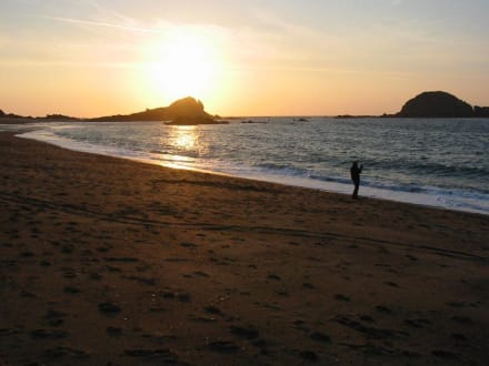 Abendstimmung am Strand - Strand Saint Malo