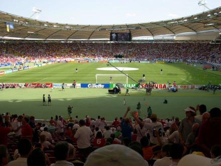 Kurz vor dem Spiel ENG-ECU - Mercedes-Benz Arena
