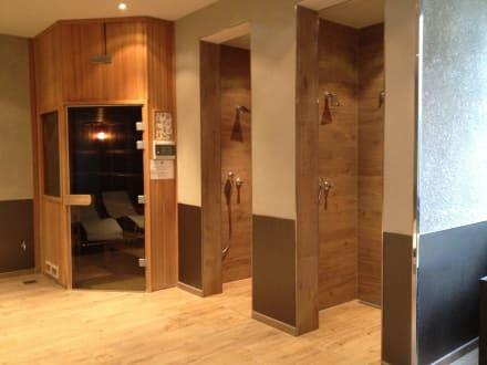 sauna und duschen bild pentahotel leipzig in leipzig sachsen deutschland. Black Bedroom Furniture Sets. Home Design Ideas