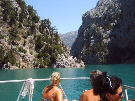 Green Canion, Bootsfahrt - Oymapinar Baraji/ Stausee Green Lake & Green Canyon