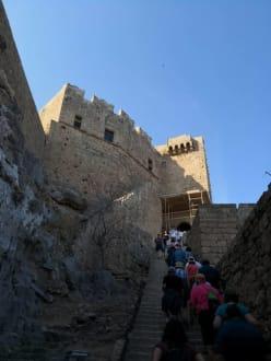 Aufgang Akropolis - Akropolis von Lindos