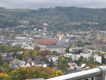 Aussicht auf Trier vom Sightseeing-Bus aus - Altstadt Trier