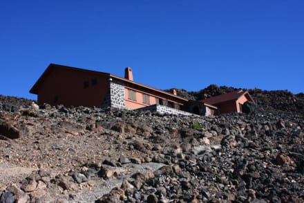 Die Berghütte Refugio de Altavista (3260m) - Teide Nationalpark
