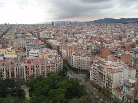 Aussicht auf die Stadt von der Sagrada Familia - Sagrada Familia