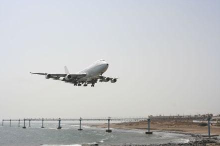 Boeing 747-200 im Anflug auf Rwy03 - Flughafen Arrecife (ACE)