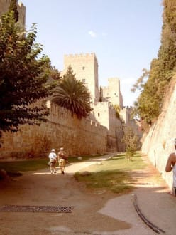 Die Altstadt von Rhodos-Stadt - Stadtmauer Rhodos