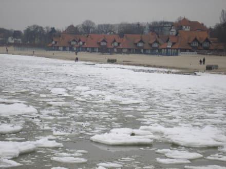 Die zugefrorene Ostsee an der Molo - Strand Zoppot/Sopot