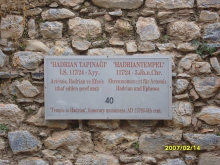 Ein Schild mit Beschreibung! - Antikes Ephesus