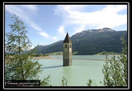 Reschensee - Kirchturm im Reschensee