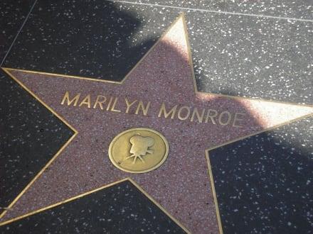 Einer der meist besuchten Sterne - Hollywood Walk of Fame