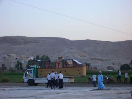 Vorbereitung - Ballonfahrt Luxor