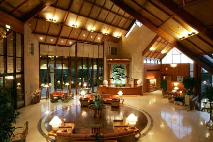 Lobby of Palm Tree Court & Spa -