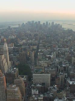 Downtown NYC vom ESB aus - Empire State Building